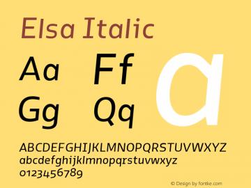 Elsa-Italic Version 1.000;图片样张