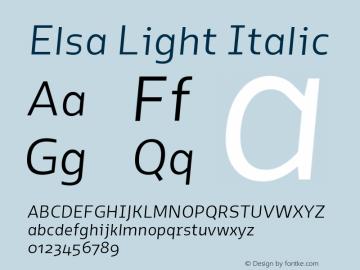 Elsa-LightItalic Version 1.000;图片样张
