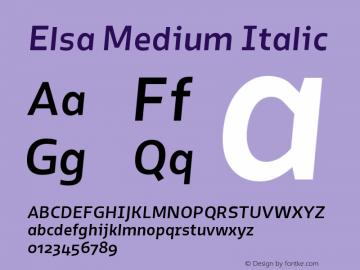 Elsa-MediumItalic Version 1.000;图片样张