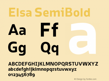 Elsa-SemiBold Version 1.000;图片样张