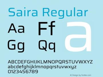 Saira Regular Version 0.072图片样张