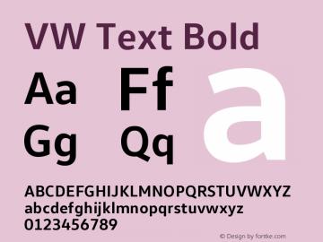 VW Text Bold Version 1.102 Font Sample