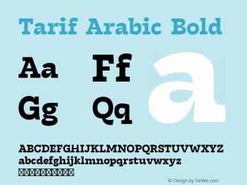 Tarif Arabic Bold Version 1.000图片样张