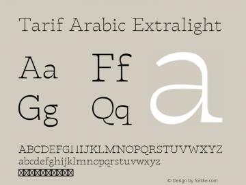 Tarif Arabic Extralight Version 1.000图片样张