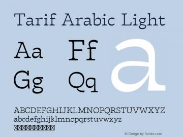 Tarif Arabic Light Version 1.000图片样张