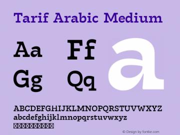 Tarif Arabic Medium Version 1.000图片样张