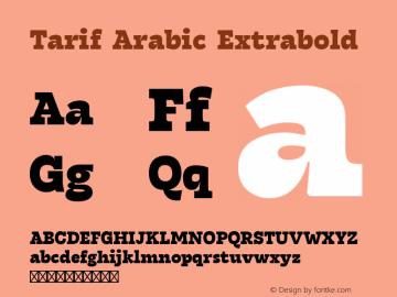 Tarif Arabic Extrabold Version 1.000图片样张