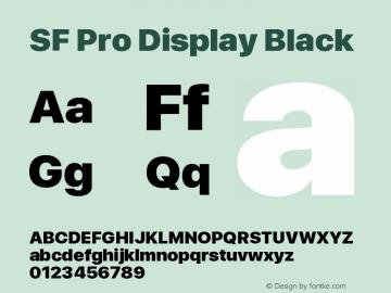 SF Pro Display Black Version 13.0d3e20图片样张