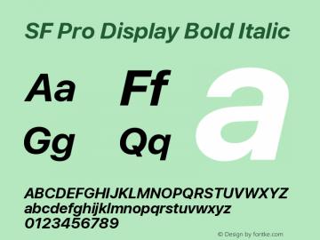 SF Pro Display Bold Italic Version 13.0d3e20图片样张