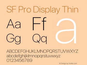 SF Pro Display Thin Version 13.0d3e20图片样张