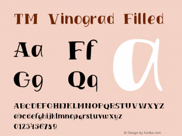 TM Vinograd Filled Version 001.000图片样张