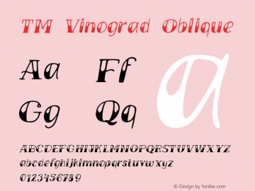 TMVinograd-Oblique Version 001.000图片样张