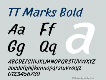 TTMarks-Bold Version 1.000图片样张