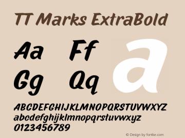 TTMarks-ExtraBold Version 1.000图片样张