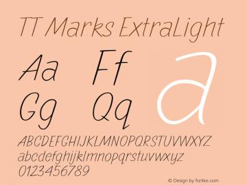 TTMarks-ExtraLight Version 1.000图片样张