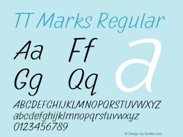 TTMarks-Regular Version 1.000图片样张