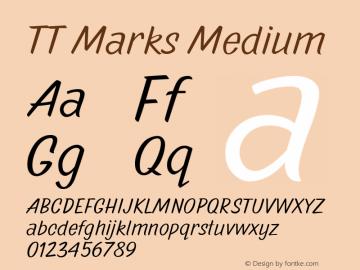 TTMarks-Medium Version 1.000图片样张