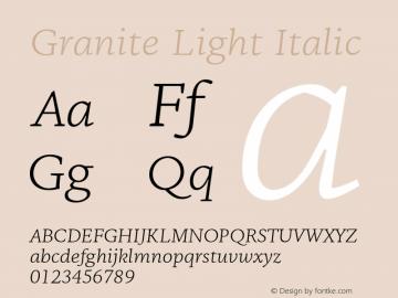 Granite-LightItalic Version 1.000图片样张