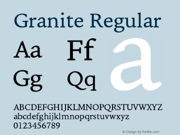Granite-Regular Version 1.000图片样张