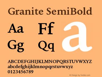 Granite-SemiBold Version 1.000图片样张
