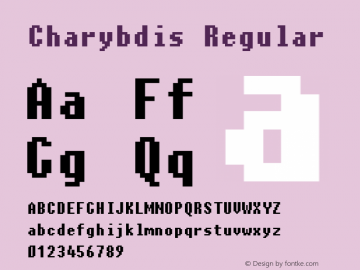 Charybdis Regular 04 February 2001 Font Sample