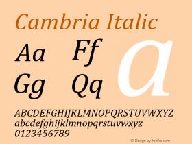 Cambria Italic Version 5.96图片样张