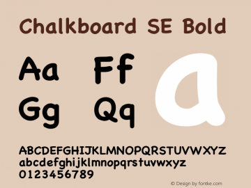 Chalkboard SE Bold 8.1d1e1图片样张