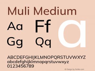 Muli Medium Version 2.100; ttfautohint (v1.8.1.43-b0c9) Font Sample