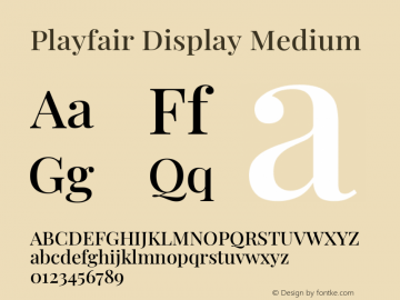 Playfair Display Medium Version 1.200; ttfautohint (v1.8.2)图片样张