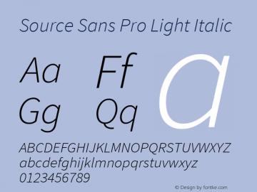 Source Sans Pro Light Italic Version 1.076;PS 2.000;hotconv 1.0.86;makeotf.lib2.5.63406图片样张