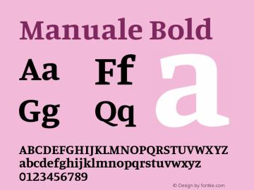 Manuale Bold Version 1.000; ttfautohint (v1.8.1.43-b0c9)图片样张