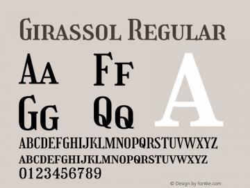 Girassol Regular Version 1.004图片样张