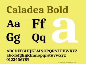 Caladea Bold Version 1.001图片样张