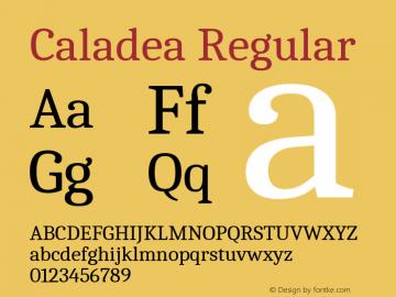 Caladea Regular Version 1.001图片样张