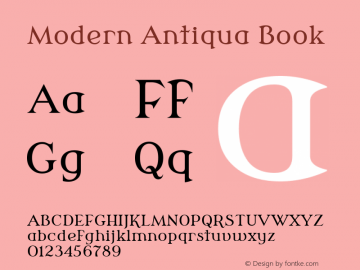 Modern Antiqua Book Version 3.0.0; 2020-03-03 Font Sample