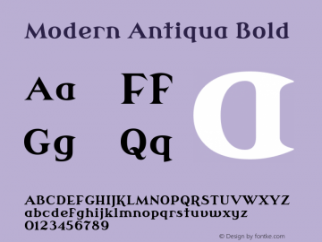 Modern Antiqua Bold Version 3.0.0; 2020-03-03 Font Sample