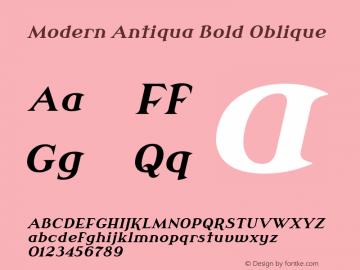 Modern Antiqua Bold Oblique Version 3.0.0; 2020-03-03 Font Sample