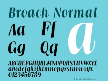 Broach Normal Altsys Fontographer 4.1 1/30/95 Font Sample