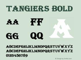 Tangiers Bold Altsys Fontographer 4.1 12/22/94 Font Sample