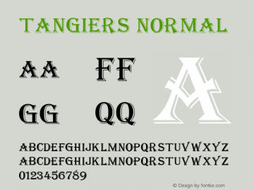 Tangiers Normal Altsys Fontographer 4.1 12/22/94 Font Sample