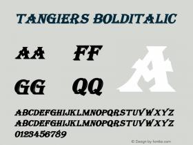 Tangiers BoldItalic Altsys Fontographer 4.1 12/22/94 Font Sample