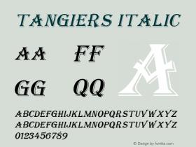 Tangiers Italic Altsys Fontographer 4.1 12/22/94 Font Sample