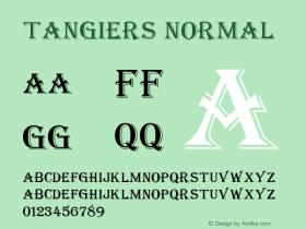 Tangiers Normal Altsys Fontographer 4.1 11/15/95 Font Sample