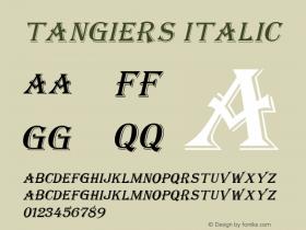 Tangiers Italic Altsys Fontographer 4.1 11/15/95 Font Sample