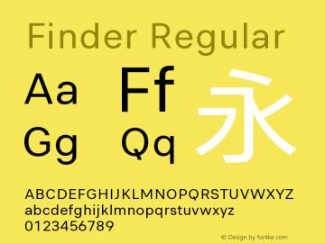 Finder Regular Version 1.0 Font Sample