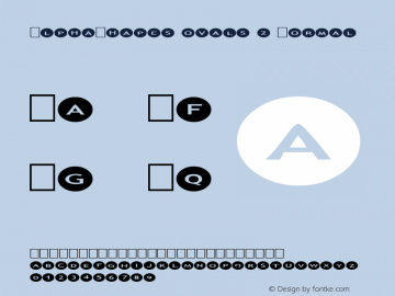AlphaShapes ovals 2 Normal 1.0 - Foopyware - use keys a to z, 0 to 9 Font Sample