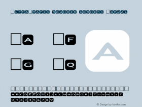 AlphaShapes rounded corners Normal 1.0 - Foopyware - use keys a to z, 0 to 9 Font Sample