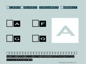 AlphaShapes squares Normal 1.0 - Foopyware - use keys a to z, 0 to 9图片样张