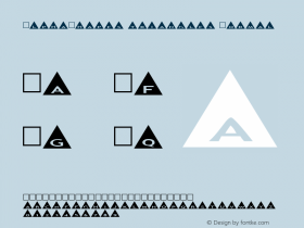 AlphaShapes triangles Normal 1.0 - Foopyware - use keys a to z, 0 to 9 Font Sample