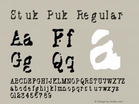 Stuk Puk Regular Version 1.1 Font Sample